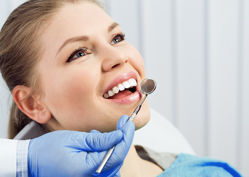 getting teeth checked before dental post and core